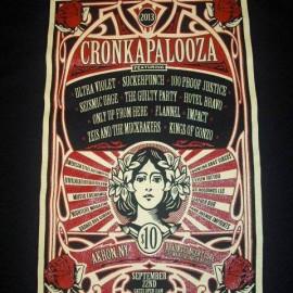 Cronkapalooza Logo Design & Custom Printed T-Shirt