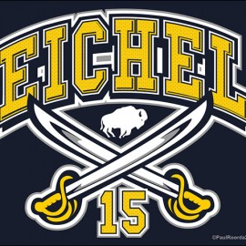 Jack Eichel Buffalo Sabres Screen Printed Tee Shirt