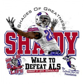 Shades of Greatness Walk to Defeat ALS Logo Design & T-Shirt for The LeSean McCoy Foundation